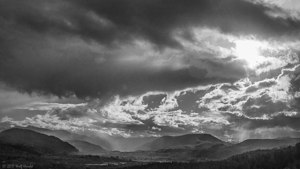 the valley in b&w